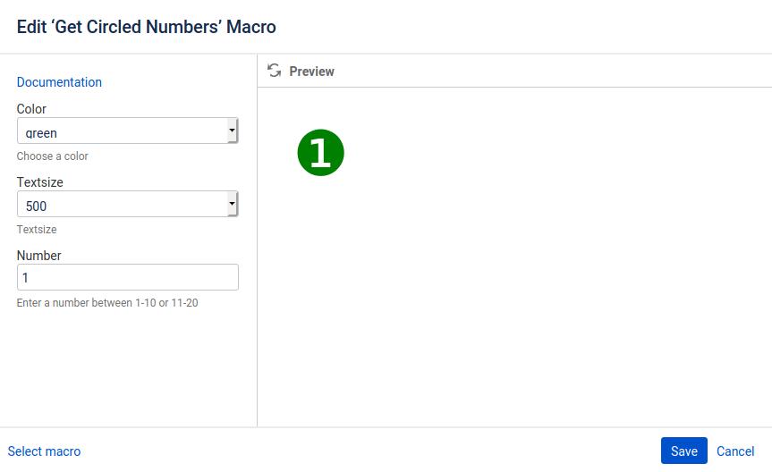 Macro Circled Numbers Edit