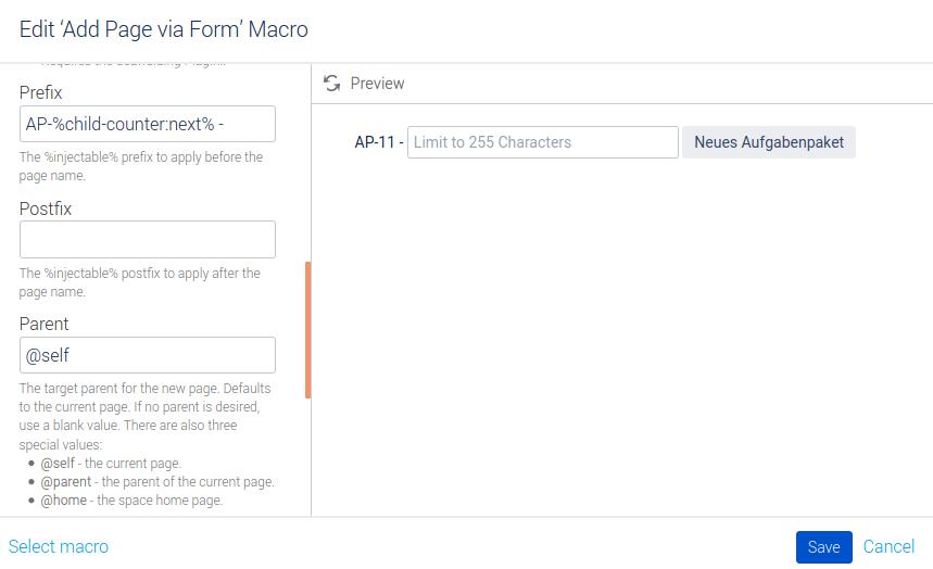 Konfiguration Macro Button Neues Aufgabenpaket Teil 2