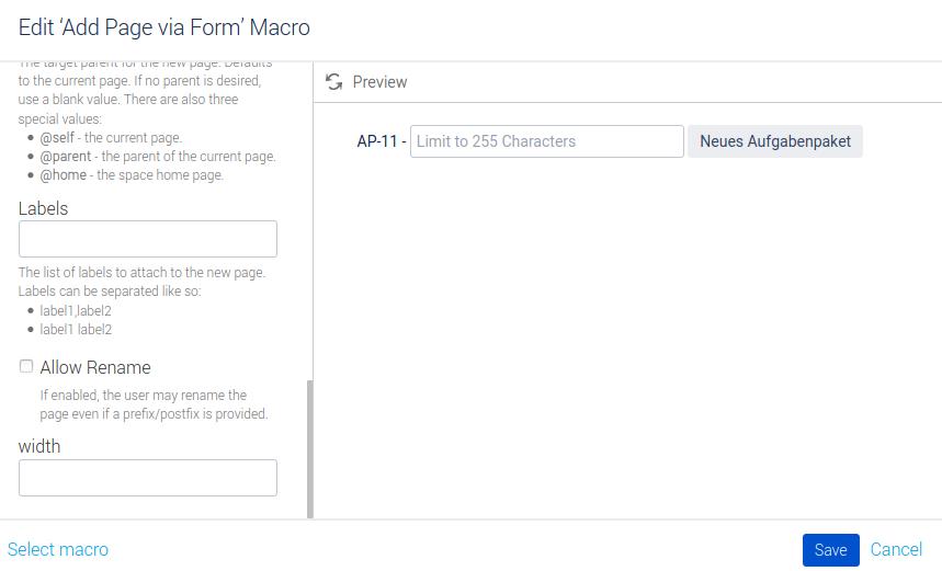 Konfiguration Macro Button Neues Aufgabenpaket Teil 3