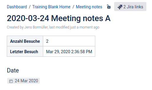 Screenshot Tracking Info Macro