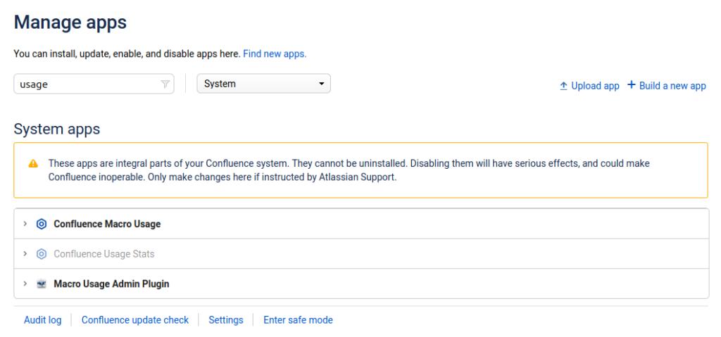 Screenshot Admin-Panel Manage Apps