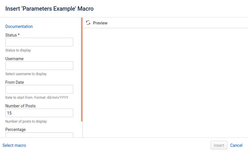 Confluence User Macro Parameter