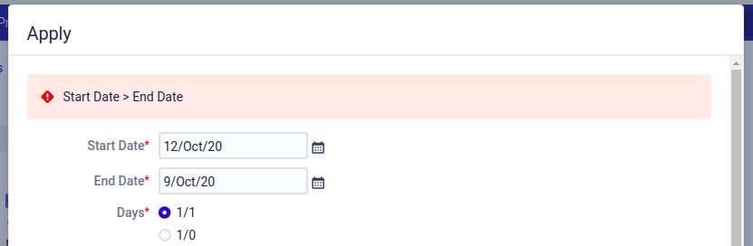 Error message from a Jira validator