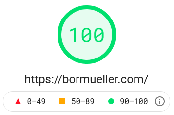 Google Page Speed test result